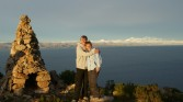 Isle de Sol - Us at top of Mountain